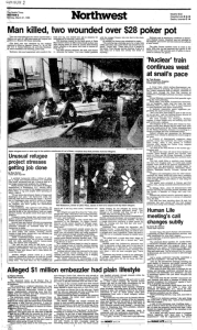 The Paul Stanford : White Train Seattle Times article 3-21-1983